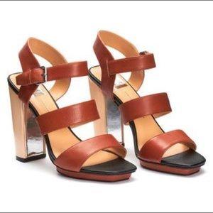 Dolce Vita Fanta Sandal in Cognac Leather